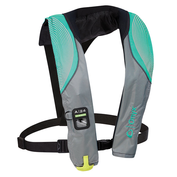 Onyx A-24 In-Sight Automatic Inflatable Life Jacket - Aqua [133200-505-004-18]