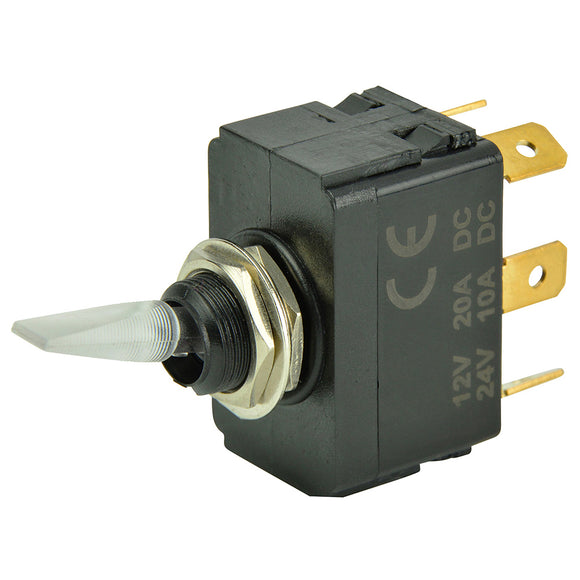 BEP SPDT Lighted Toggle Switch - ON-OFF-ON [1001907]