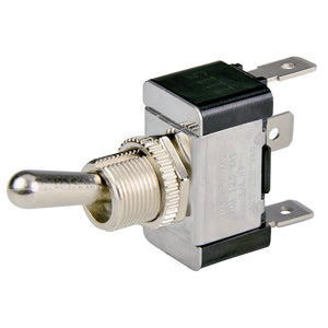 BEP SPDT Chrome Plated Toggle Switch - ON-OFF-ON [1002001]