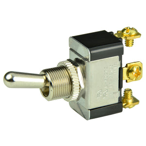 BEP SPDT Chrome Plated Toggle Switch - ON-OFF-(ON) [1002015]