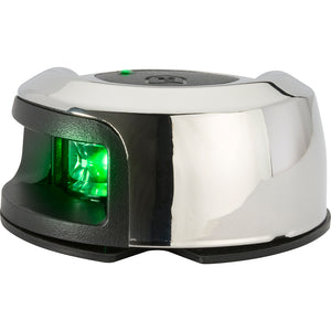 Attwood LightArmor Deck Mount Navigation Light - Stainless Steel - Starboard (green) - 2NM [NV2012SSG-7]