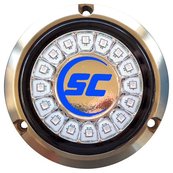Shadow-Caster Ultra Blue Single Color Underwater Light - 16 LEDs - Bronze [SCR-16-UB-BZ-10]