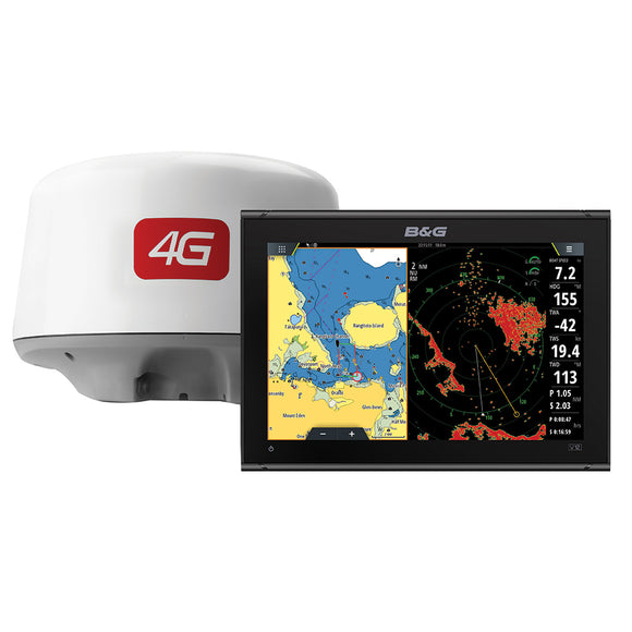 BG Vulcan 12 Chartplotter-Fishfinder Display w-4G Radar Bundle [000-14157-001]