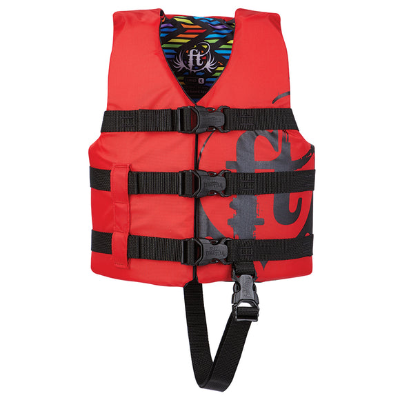 Full Throttle Child Nylon Life Vest - 30-50lbs - Red [112200-100-001-19]