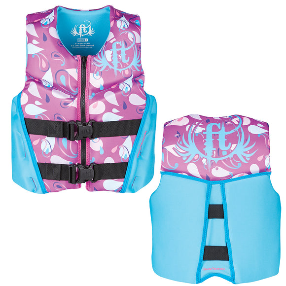 Full Throttle Hinged Rapid-Dry Flex-Back Life Vest - Youth 50-90lbs - Purple [142500-600-002-19]
