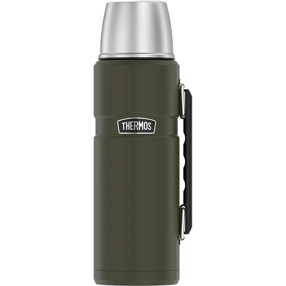 Thermos King Beverage Bottle 40oz - Stainless Steel-Matte Army Green [SK2010AGTRI4]