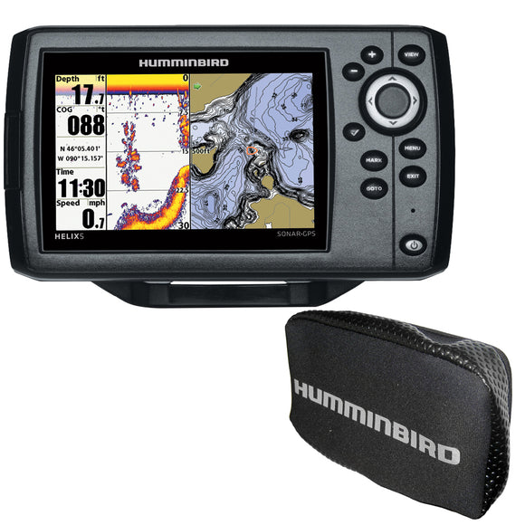 Humminbird HELIX 5 CHIRP DI GPS G2 Combo w-Nav+ and Cover [410220-1NAVCOVER]