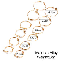 Big Circle Hoop Earring Ball Pendant Earrings Set 6 Pairs/Set