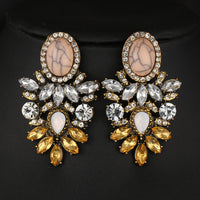 Big Crystal Flower Drop Earring Rhinestones Earrings