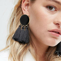 Tassel Earrings Dangle Round Ethnic Bohemian Long Big Fringed Drop Earrings