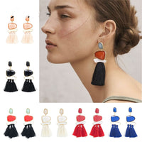 Tassel Multicolored Drop Dangle Earrings