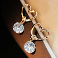 Hollow  Zircon Earrings