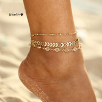Anklet Set Foot Bracelet Vintage 3Pcs/lot
