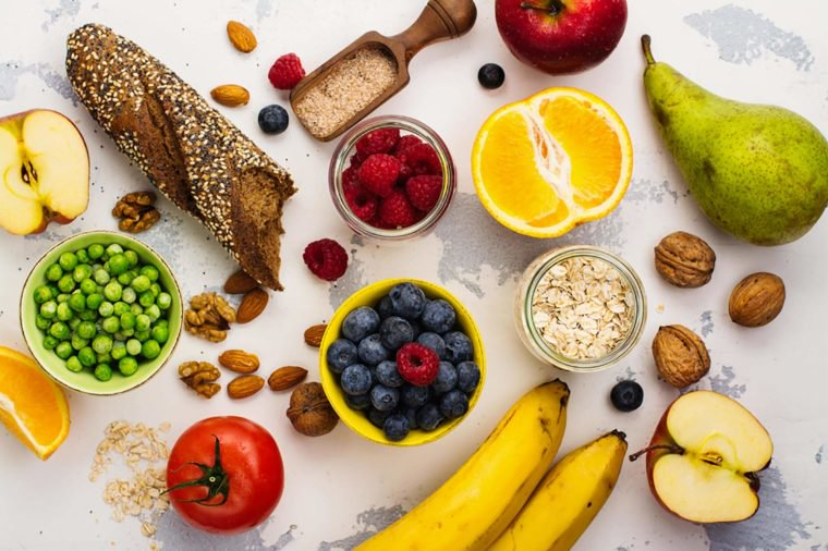 Fruits, vegetables and nuts are great sources of fiber that can help with IBS