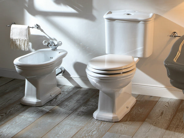 Conventional bidet is a located beside the toilet toilet. It is a separate area to wash after you go.
