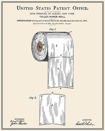 US Patent for toilet paper