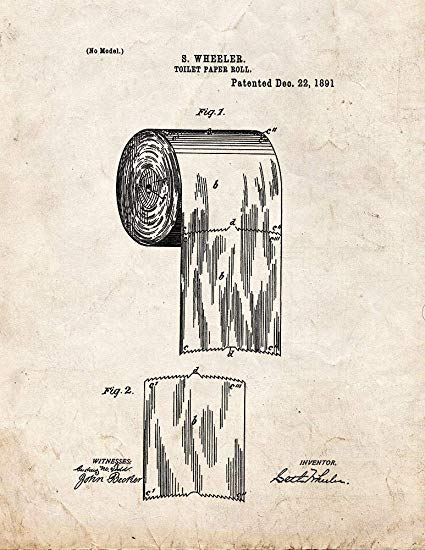 Toilet Paper Patent Showing Over