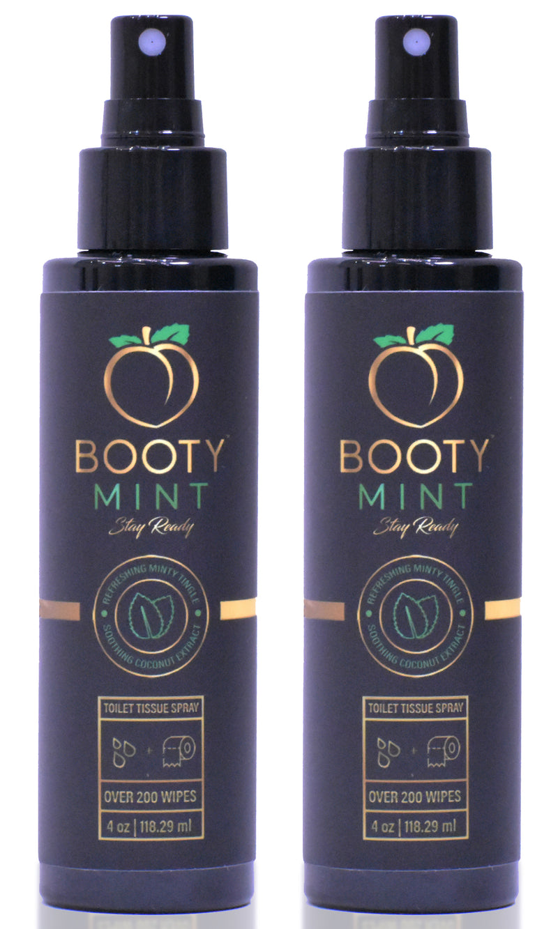 Booty Mint | Combo Pack | Toilet Tissue Moistener | Make Your Own Booty Wipes | Flushable Wipes Alternative