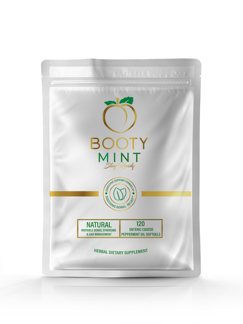 BOOTY MINT - Peppermint Oil Gels - NATURAL IBS & GAS MANAGEMENT