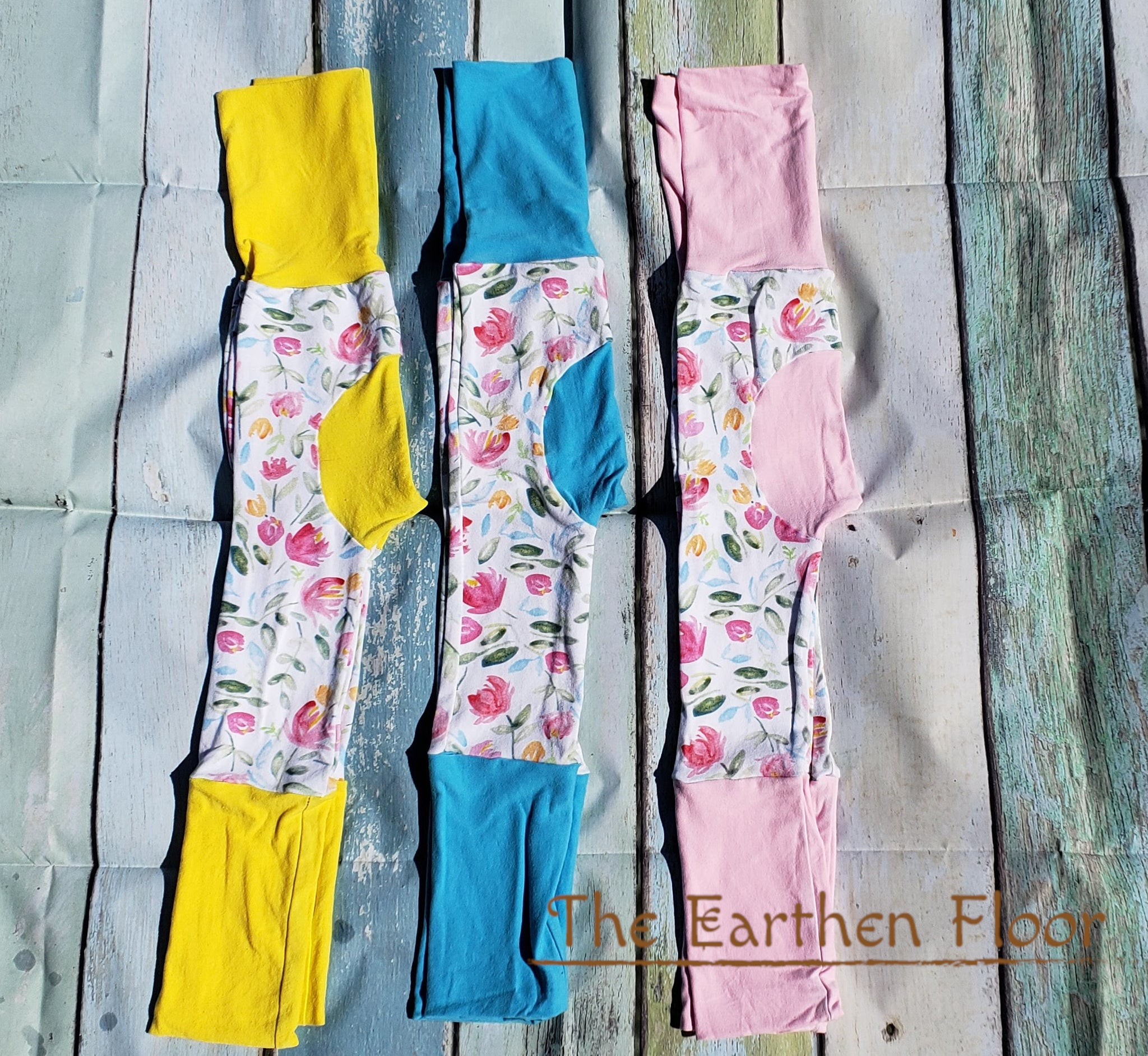 Earthen Floor - Floral Grow-With-Me Pants