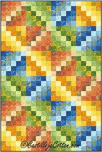 Emerging Diamonds Quilt Pattern - Happy Hour - [product-vendor] - Craftco Ltd - NZ