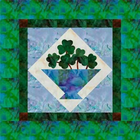 March Basket of Shamrocks Quilt Pattern - [product-vendor] - Craftco Ltd - NZ