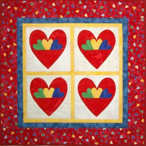 Pockets of Hearts 20 x 20 in - [product-vendor] - Craftco Ltd - NZ