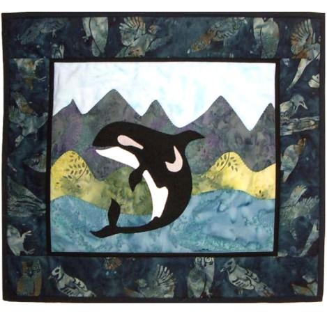 Jumping Orca Whale Quilt Pattern - [product-vendor] - Craftco Ltd - NZ