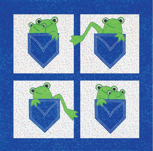 Pockets Full Of Frogs 40x40in - [product-vendor] - Craftco Ltd - NZ
