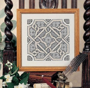 Blackwork Knot Garden Chart 18x18cm - [product-vendor] - Craftco Ltd - NZ