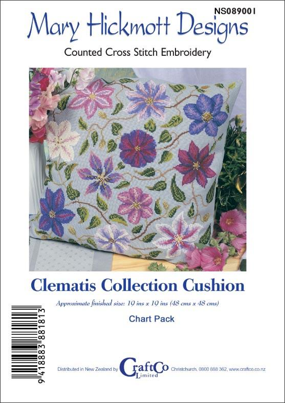 Clematis Collection Cushion - [product-vendor] - Craftco Ltd - NZ