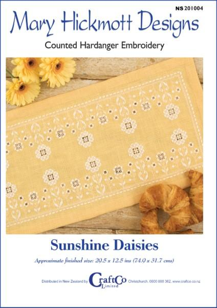 Sunshine Daisies Hardanger - [product-vendor] - Craftco Ltd - NZ