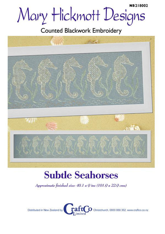 Blackwork Subtle Seahorses - [product-vendor] - Craftco Ltd - NZ