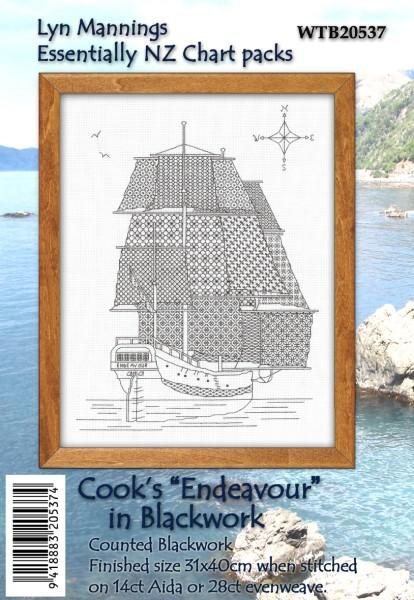 Blackwork Cooks Endeavour - [product-vendor] - Craftco Ltd - NZ