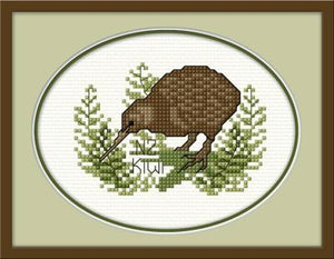 NZ Kiwi 14x12cm On 11Ct Aida - [product-vendor] - Craftco Ltd - NZ