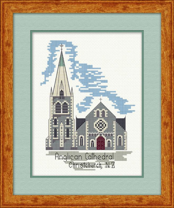Anglican Cathedral 15x19cm on 14ct Antique White Aida - [product-vendor] - Craftco Ltd - NZ