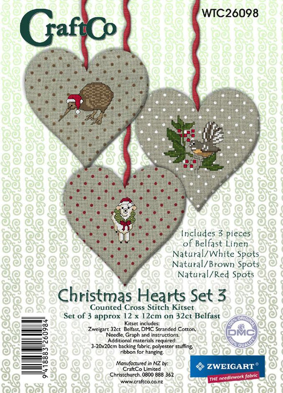 Christmas Hearts 3 - [product-vendor] - Craftco Ltd - NZ