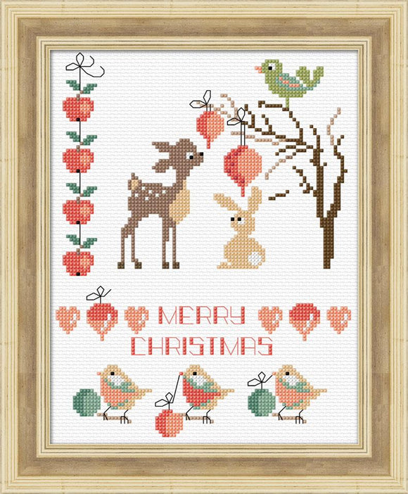 Woodland Sampler 15x19 on 14ct White Aida - [product-vendor] - Craftco Ltd - NZ