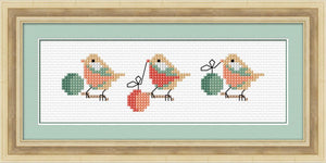 Birds and Baubles 17x6cm on 14ct White Aida - [product-vendor] - Craftco Ltd - NZ