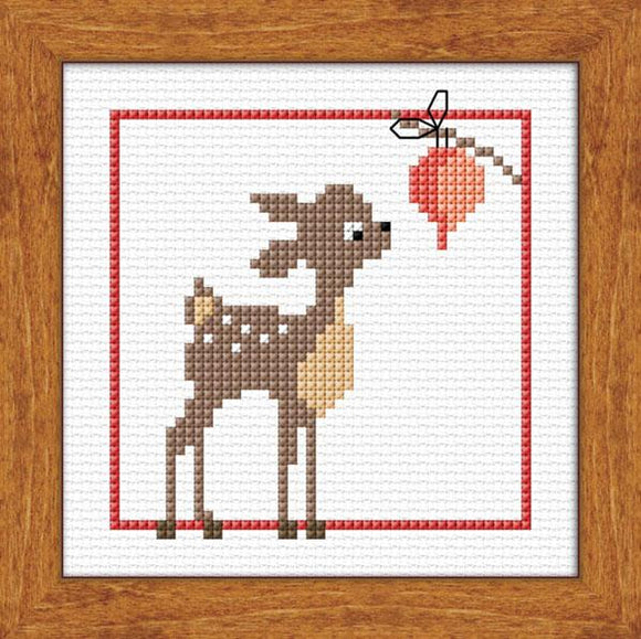 Fawn's First Xmas 10x10cm on 14ct White Aida - [product-vendor] - Craftco Ltd - NZ