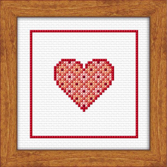 Christmas Heart 10x10cm on 14ct White Aida - [product-vendor] - Craftco Ltd - NZ