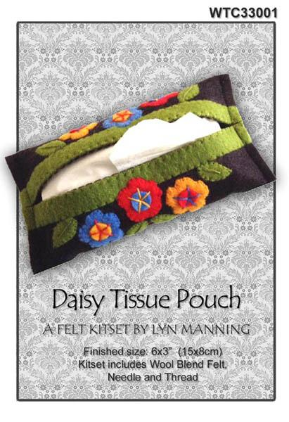 Daisy Tissue Pouch Felt Kitset - [product-vendor] - Craftco Ltd - NZ