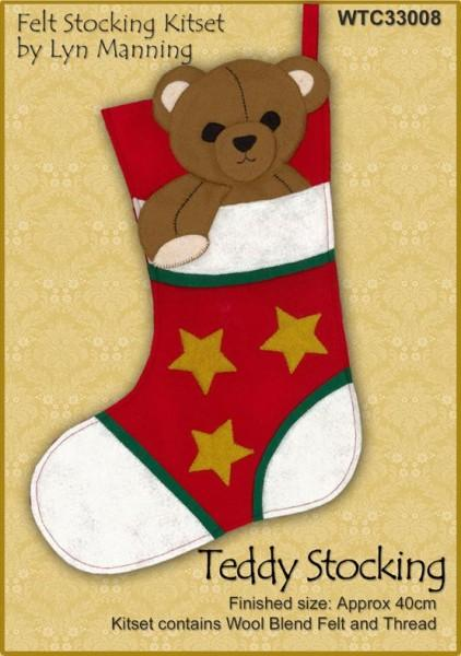 Teddy Felt Stocking Kitset 40cm - [product-vendor] - Craftco Ltd - NZ