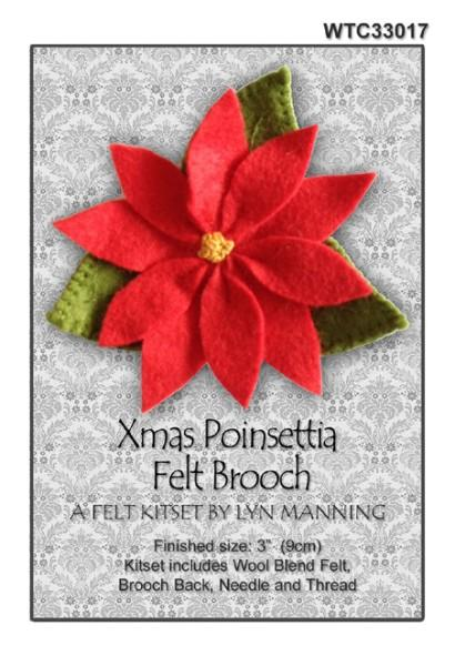 Xmas Poinsettia Felt Brooch Kitset 9cm - [product-vendor] - Craftco Ltd - NZ