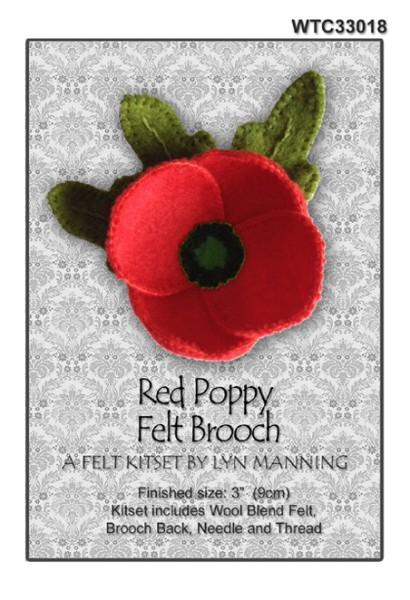 Poppy Felt Brooch Kitset 9cm - [product-vendor] - Craftco Ltd - NZ