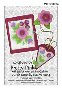 Felt Needlecase Set - Pretty Pink - [product-vendor] - Craftco Ltd - NZ