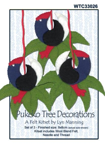 Pukeko Tree Decorations Felt Kitset 9x8cm - [product-vendor] - Craftco Ltd - NZ