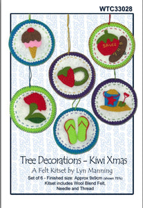 Felt Tree Decorations Kiwi Xmas - [product-vendor] - Craftco Ltd - NZ