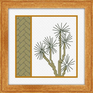 Cabbage Tree 10x10cm on 14ct Aida - [product-vendor] - Craftco Ltd - NZ