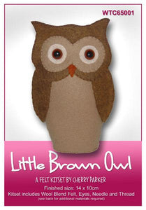 Little Brown Owl 14x10cm - [product-vendor] - Craftco Ltd - NZ